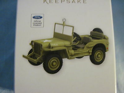 2012 Hallmark 1943 FORD GPW Ornament JEEP Army Green World War II NEW