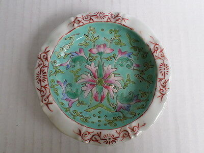 Antique Chinese Porcelain Famille Small Plate(Republic Period?)