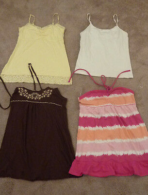 Lot of 4 Girls Tank Tops, Halter L XL Justice No Boundries