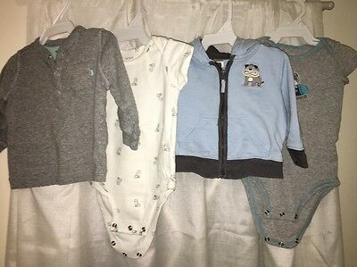 Baby Boys 6 Month Carter's Lot Of 4 EUC