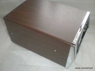 Traex 6512-12 napkin dispenser horizontal walnut/chrome single sided holder