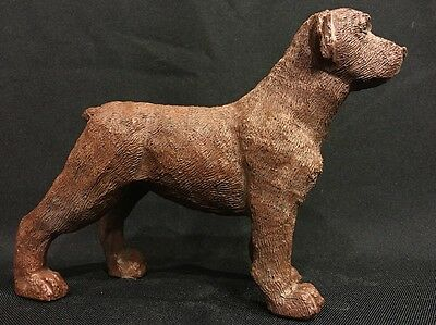 VTG Chocolate Labrador Retriever Dog Figurine Red Mill Mfg Crushed Pecan Shells