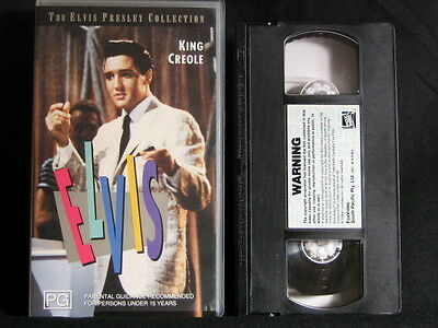 King Creole. Elvis Presley. VHS Cassette Tape. 1993. Made In Australia