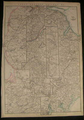 England Great Western Railway Bristol to Exeter c.1863 old vintage Weller map