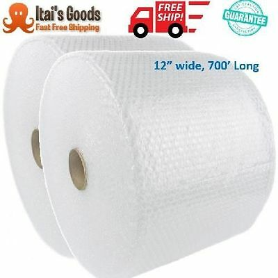 "Bubble Wrap 3/16"" 700ft x 12"" Small Padding 12"" Perforated moving shipping roll"
