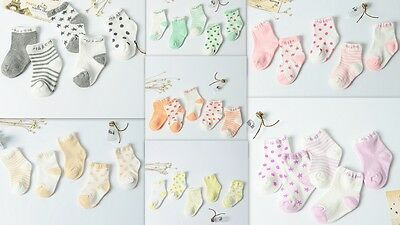 5 Pairs Newborn Baby Infant Toddler Stripe Cotton Soft Sock Boy Girl Kids Socks