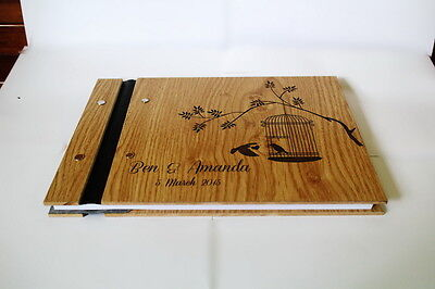 Customized photo book wedding book engraved wooden book 21st birthday book a4