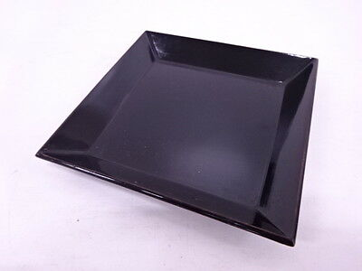 41861# Japanese Lacquer Ware / Square Tray / Lacquer