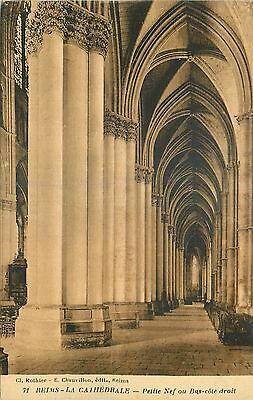 Cp Reims Cathedrale Petite Nef