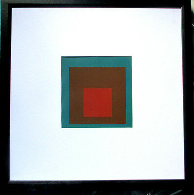 JOSEF ALBERS >Hommage to the Square< Original -Siebdruck, 16x16cm, mit Rahmen
