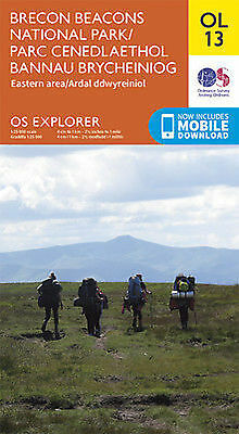 OL13 Brecon Beacons Eastern & Northern  Ordnance Survey Explorer Map OL 13