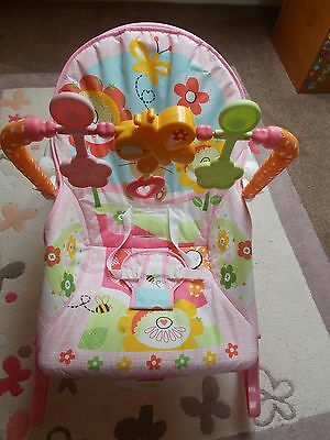 Fisher Price infant to toddler rocker - Bunnies - Pink