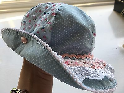 Pretty Floral Summer Hat For Baby Girl 3-6 Months