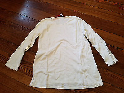 Woman white long sleeve t-shirt. Size small By Two Hearts Maternity