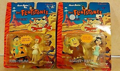 Boley The Flintstones Wind Up Figures Fred, Wilma, Barney, Betty 1994