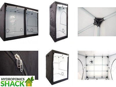 Phantom Premium Hydroponic Grow Tent Room White Lined 600D 60 80 100 120 150CM