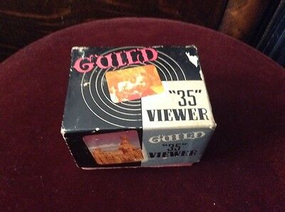 Vintage GUILD VISTAR 2x2 Slide Viewer, 35mm, 16mm, 8mm