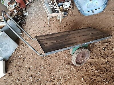 VINTAGE INDUSTRIAL TROLLEY COFFEE TABLE rare rustic