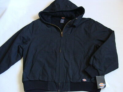 NWT Men's Cotton Duck Jacket Size XXL Black Insulated Sanded Coat Dickies 2XL
