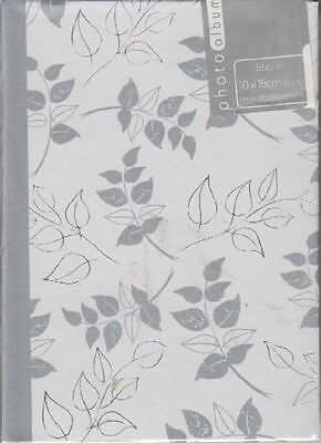 Silver Leaf 12 x 17cm Slip In Photo Album 80 Photos 4 x 6
