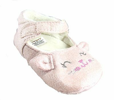 New Carter's Baby Girl crib Dress Shoes Pink Kitty Cat 3-6 Months Size 2 Infant