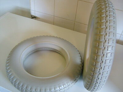 Pair Of Puncture Proof 3.00-8 Powerchair Tyres. Brand New Grey.