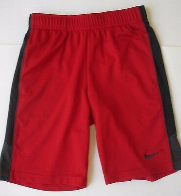 boys Nike Dri-Fit Basketball Shorts red black gray S 8