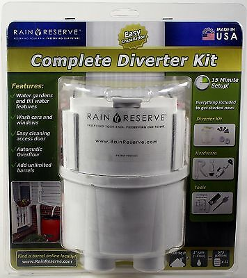 RAINRESERVE COMPLETE DIVERTER KIT harvest rainwater conservation renewable