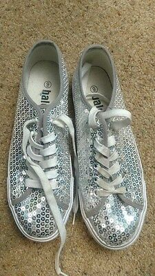 Balera Silver Sequin Dance Shoes