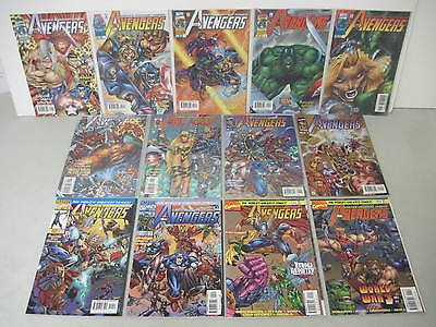 Complete Set Of Avengers Vol.2 #1-13 Marvel Comics 1996-1997 Rob Liefeld