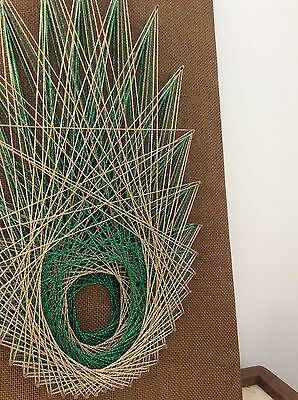 Mid Century 60s 70s Style String Art Wall Hanging
