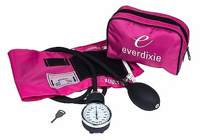 New Pink Adult BP Cuff Blood Pressure Kit With Matching Seperate Stethoscope