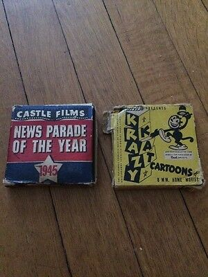 Two 8 MM Films - Krazy Kat & 1945 News Parade Of The Year