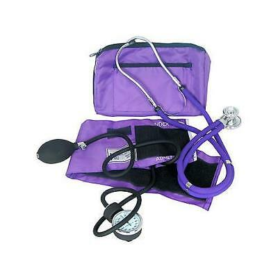 Dixie Ems Professional Blood Pressure Kit W/ Sprague Stethoscope Purple