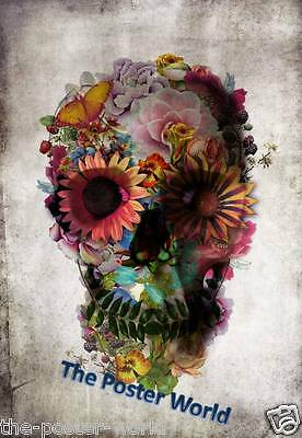 Set Of 3 Shamanic Skull Goth Picture Poster Home Decor Wall Art Print New