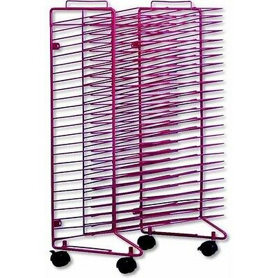 Art Drying Rack Steel Rolling Stand Paper Board Shelves Painting Project Holder