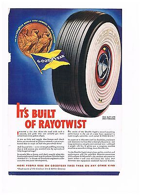 Vintage Advertisement Good Year Tires - Built of Rayotwist  (#581)