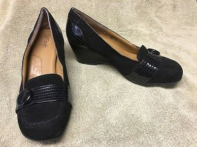 Eurosoft By Sofft Black Leather Shoes Pumps Heels Women's 8.5