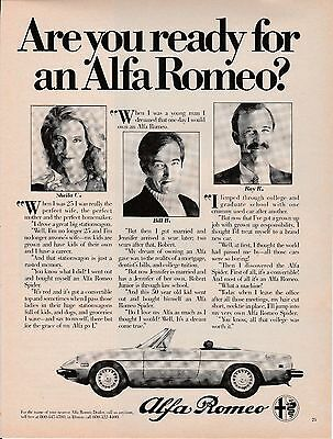 Vintage 1980 Alfa Romeo car print ad   Great for framing!