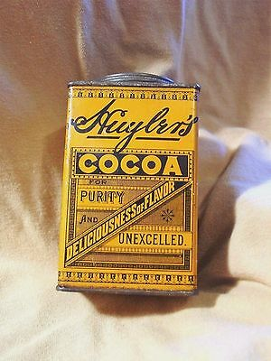 Vintage Huyler's Cocoa Tin with Original Embossed Lid 1906 Food/Drug Act