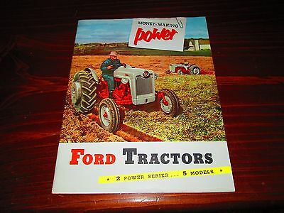 Vintage FORD 600 800 Money Making Power Tractor Brochure 1954