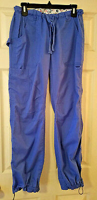 Koi by Kathy Peterson Scrub Pants Size Small Style 701 Lindsey Blue Cargo