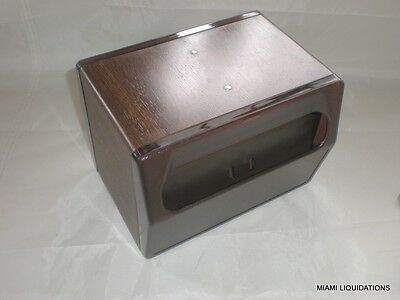 Table Top Napkin Dispenser Holder Traex 5516-12 Walnut Holds 90 Folded Napkins