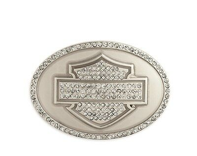 Brand New Harley-Davidson® Womens B&S Crystal Oval Buckle 99419-13VW