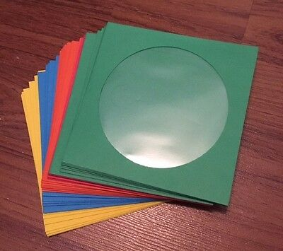ASSORTED COLOR and WHITE CD DVD Paper Sleeve Envelopes