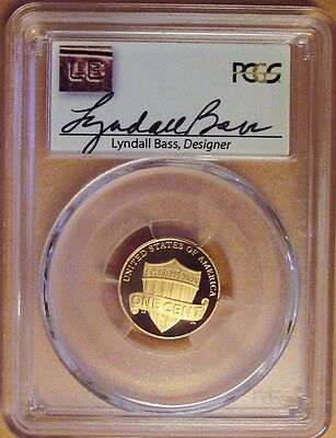 2016-S Pcgs Pr69Rd Dcam Lincoln Shield Cent! Lyndall Bass Signed! First Strike!