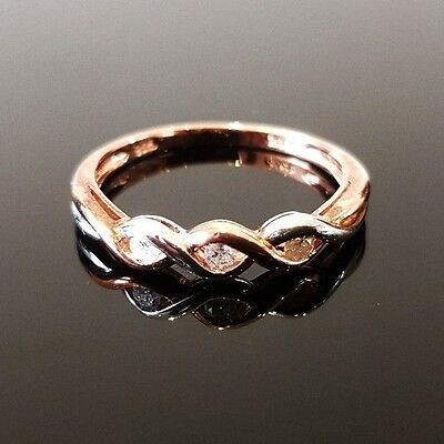 9 X Rose Gold Plated and Silver Diamond 3 Stone Ring,RRP £719 Joblot, Wholesale