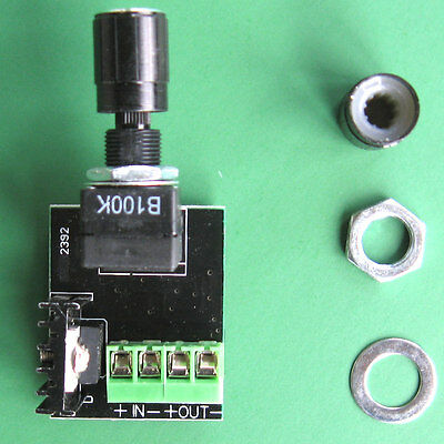 Rotary Dimmer On Off switch for 12v DC LEDs in USA, Kick KR6 PWMm up to 72 watts