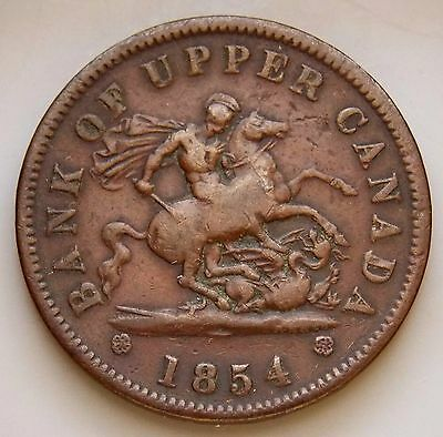 1854 PC-6C1 Province Of Canada Colonial Canadian Bank Of Upper Canada Token