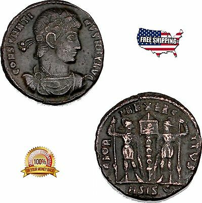 Constantine The Great Coin Ancient Roman Bronze Coin Numismatic Coins Collection